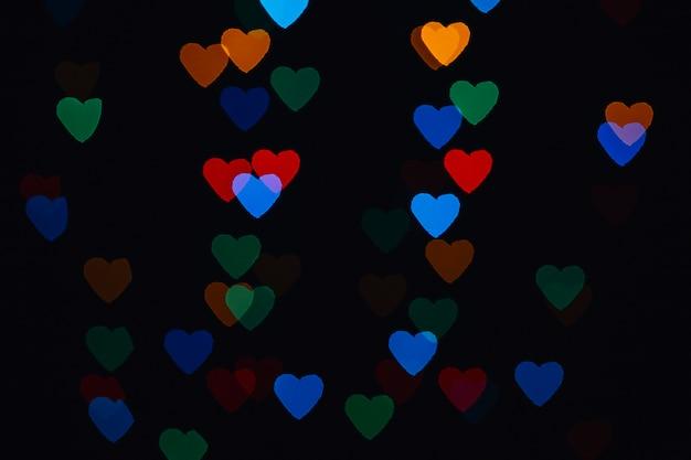 Heart-shaped garland light Free Photo