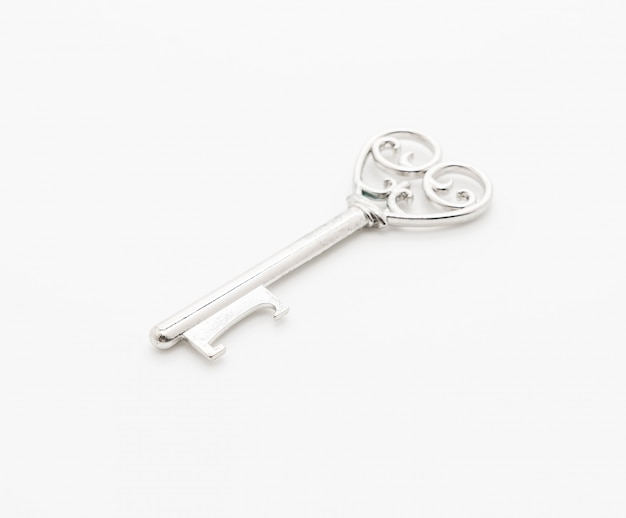 Heart shaped key love concept