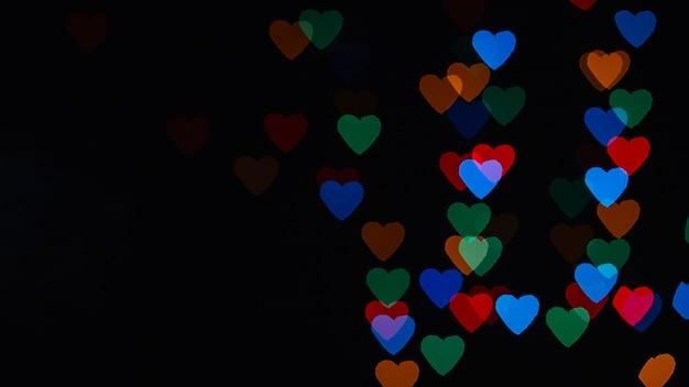 Heart-shaped specks of light