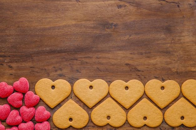 Dolci e biscotti a forma di cuore