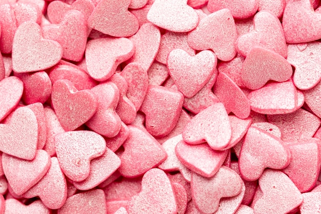 Heart-shaped valentines sweets