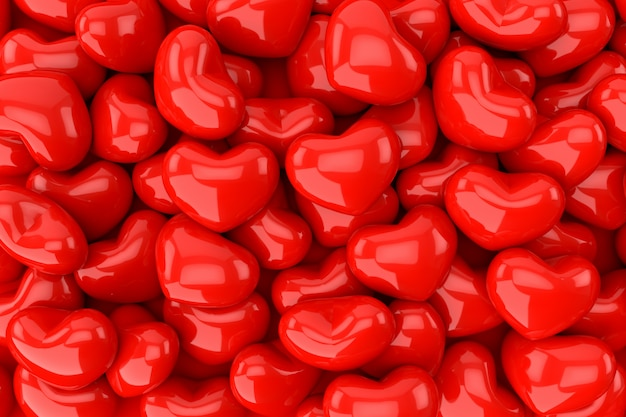 Hearts background, 3d rendering.