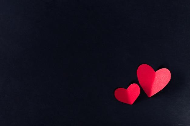 Hearts on dark