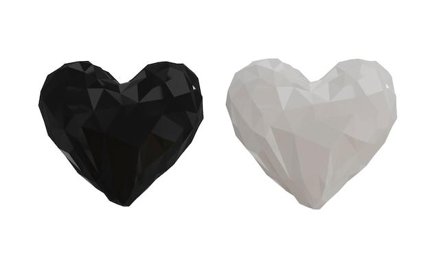 Сердца на белом фоне