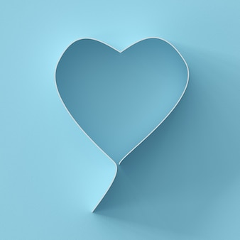 Hearts shape on blue background for copy space. minimal valentine concept idea.