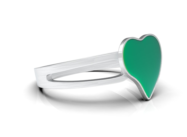 Heartshaped ring on the front 3drendering