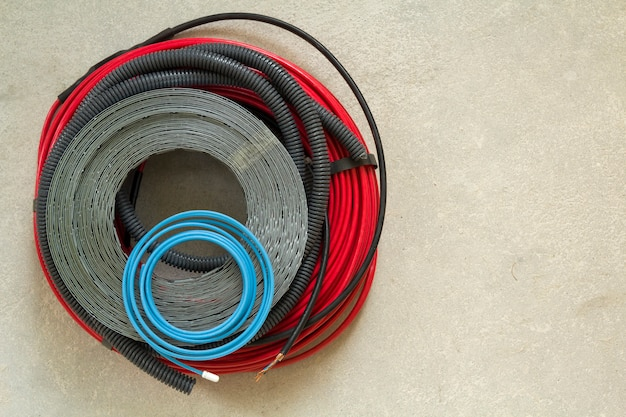 Heating floor system wires and cables