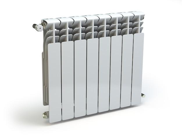 Радиатор отопления, изолированные на белом фоне 3d