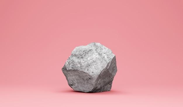 분홍색에 무거운 큰 돌