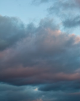 Heavy clouds at sunset. abstract cloudscape
