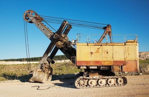Heavy excavator in career