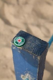 Heineken beer cap, blue