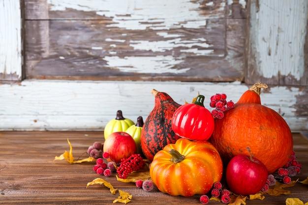 Hello autumn with autumn vegetables