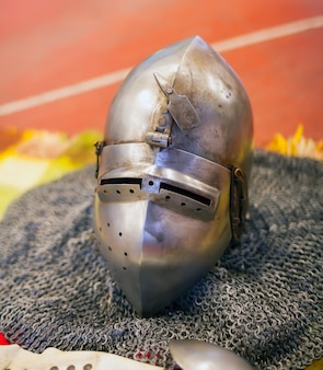 Helmet of ancient knights armour