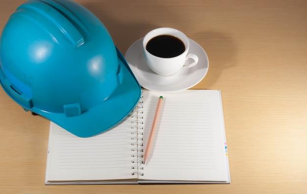 Helmet, coffee, on the desk, anytime, anywhere.