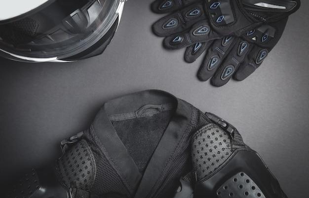 Helmet gloves jacket motorbike safety clothing speed lifestyle hobby