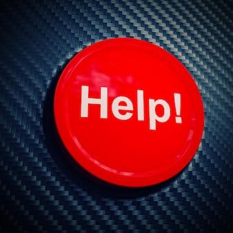 Help button on fiber carbon background