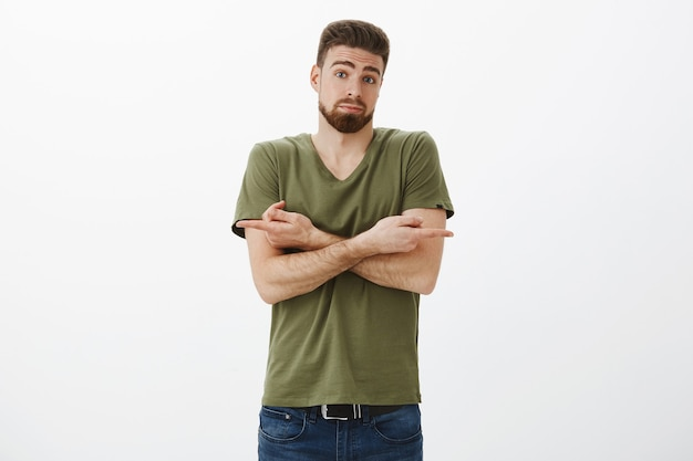 Help me make decision i not know. portrait of confused and unsure