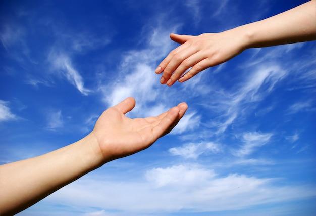 Рука помощи на небе