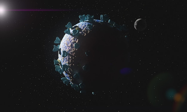 Helpless infected planet earth