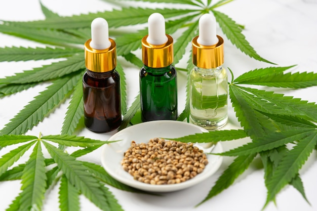 Hemp oil from hemp seeds and leaves medical marijuana.
