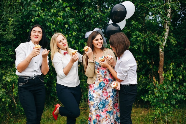 Hen party. wedding party. women at a party.