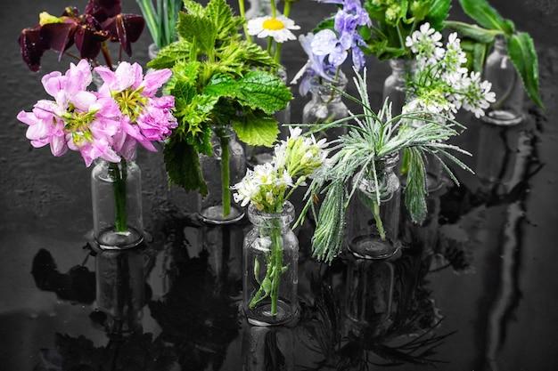 Herb in bottle