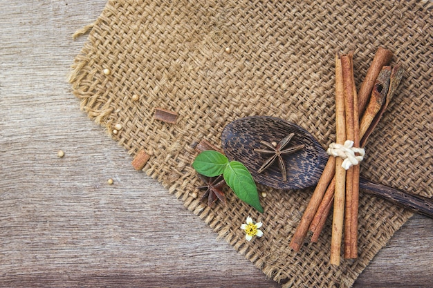 Herbal ingredient background for create healthy content