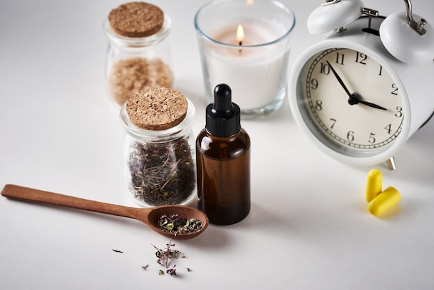 Herbal medicine for treat depression and insomnia concept