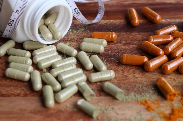 Herbal medicines in capsule