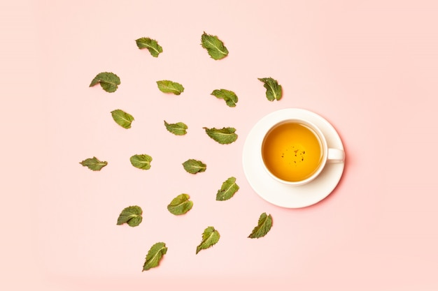 Herbal tea from mint and other herbs