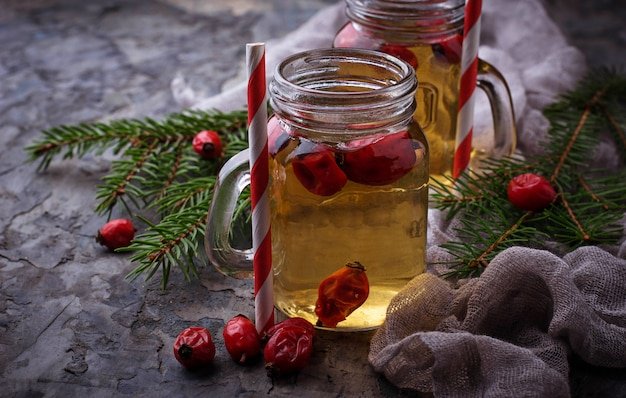 Herbal tea with rosehip