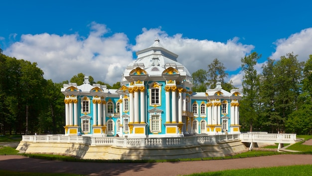 Tsarskoye seloのcatherine parkにあるhermitage pavilion