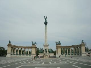 Heroes square in budapest