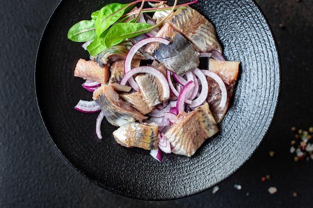 ニシンサラダタマネギドレッシングスナックシーフード魚