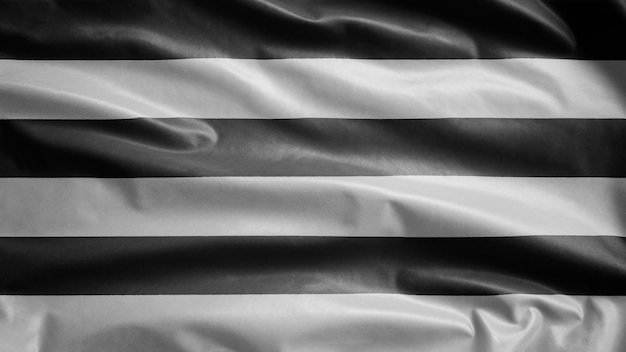Гетеросексуальный флаг развевается на ветру. раздувание флага гетеросексуальности, мягкий и гладкий шелк. ткань ткань текстуры прапорщик фон