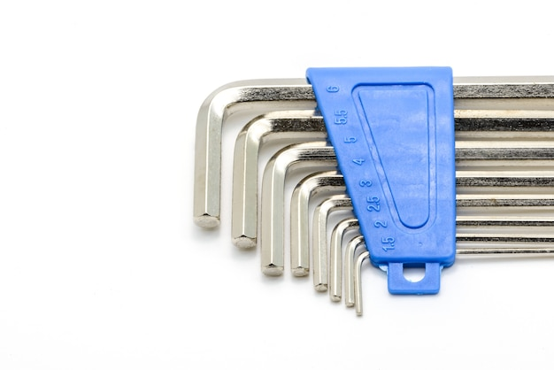 Hex key wrench set isolated