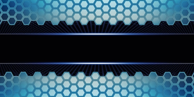 육각형 추상 벌집 벽 간단한 강력한 기술 배경 3d