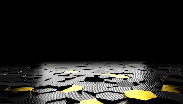 六角形カーボンファイバーの背景