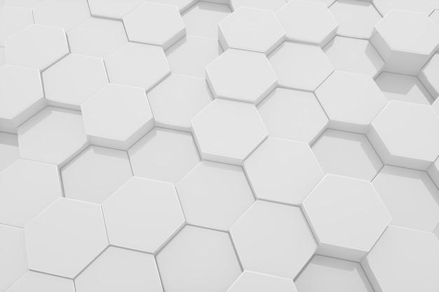 Шестиугольник чистый белый узор абстрактный современный фон.