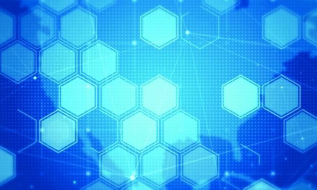 Hexagon digital technology background