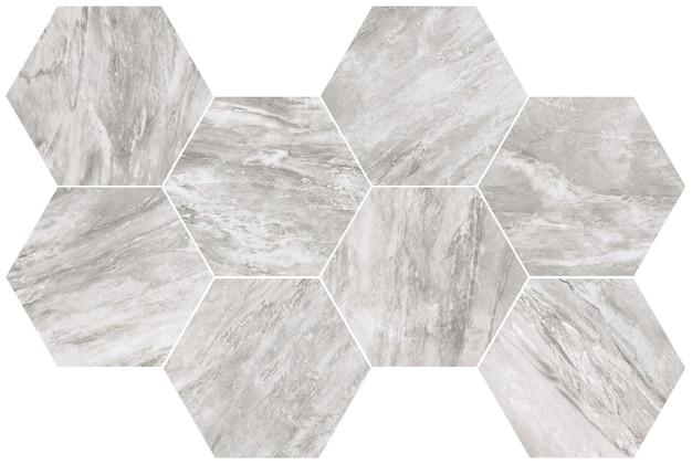 Hexagon grey marble texture
