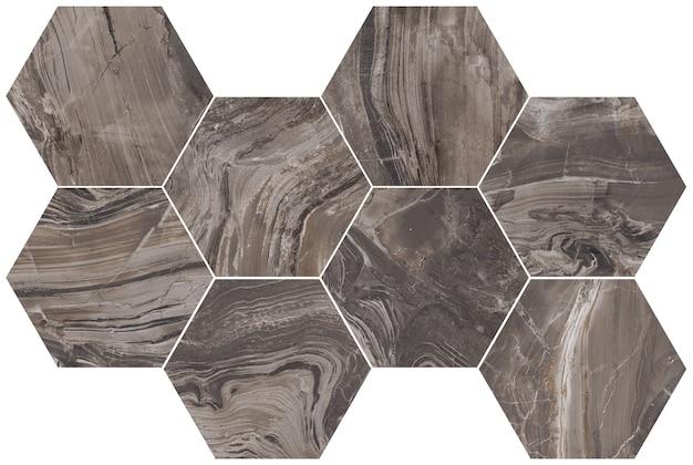Hexagon marble texture