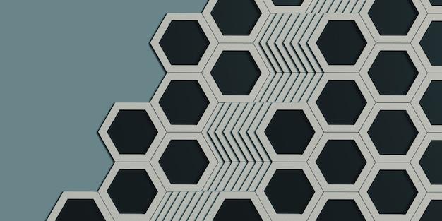 육각형 둥지 육각형 프레임 추상 기하학 육각형 단단한 강철 재료 표면