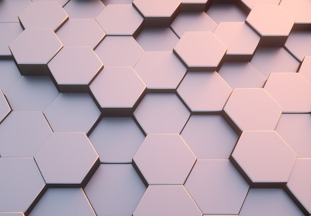 Hexagon pattern abstract modern background.