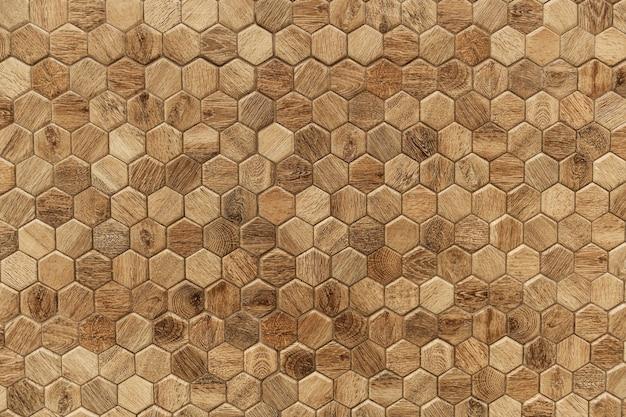 Fondo strutturato di legno modellato esagonale