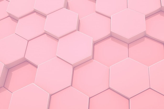 Шестиугольник розовый узор абстрактный современный фон.