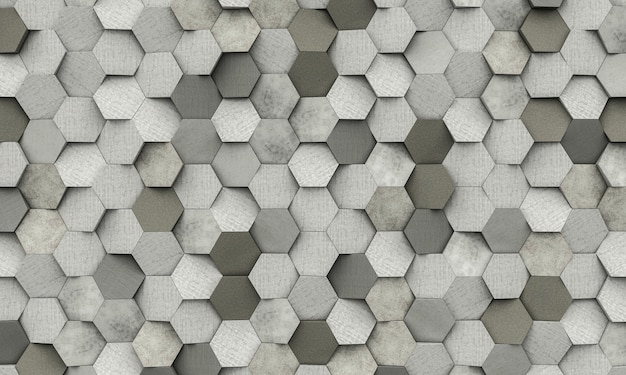 Hexagon shapes background
