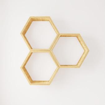 Hexagon shelf books