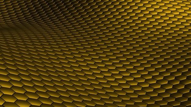 Шестиугольник волна абстрактный золотой фон